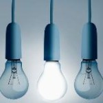Four light bulbs hanging